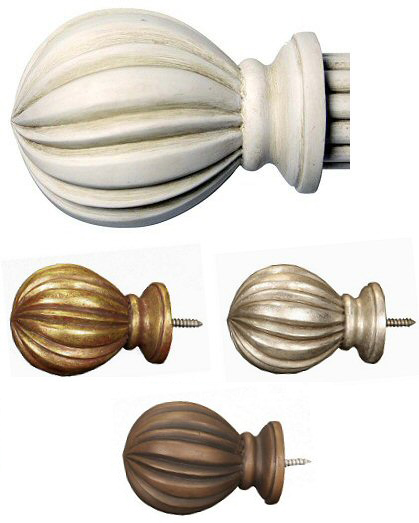 TMS Menagerie Fluted Ball Finials