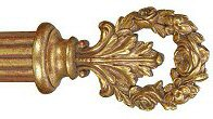 Wreath Drapery Finial