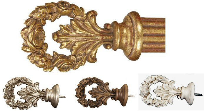 TMS Menagerie Wreath Finials