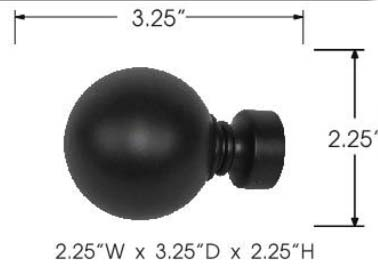 Tech Ball Finials specs