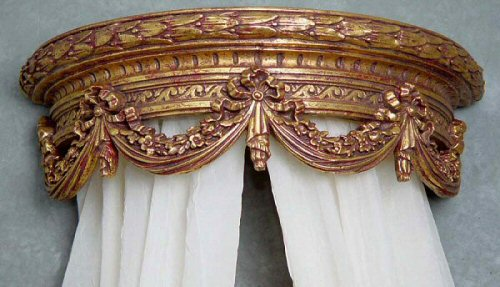 Livorno Gilded Gold Bed Crown