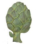 Artichoke Drapery Tab Top Holder