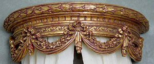 Gilded French Bed Crown