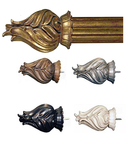 TMS Menagerie Drapery Finials Travitore
