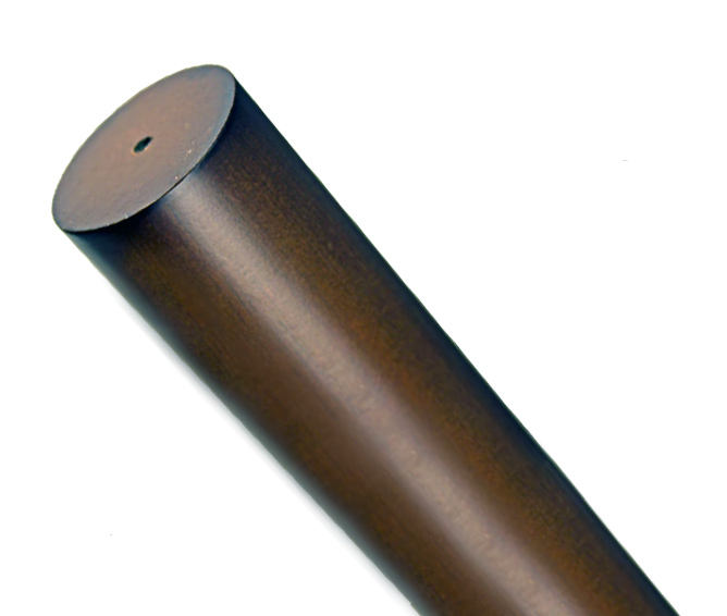 simplicity 2 diameter smooth wood drapery pole curtain rod 6 39 long 2 finishes ebay. Black Bedroom Furniture Sets. Home Design Ideas