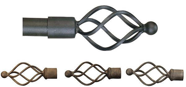 Wrought Iron Metal Spiral Finials