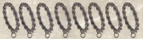 Wrought iron twisted curtain rings