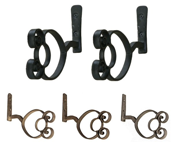 Wrought Iron Double Roll brackets