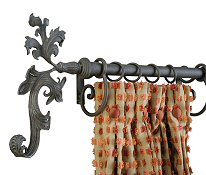 Wrought Iron Drapery Finials