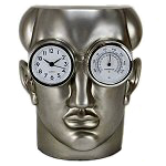 Man Head Clock Thermometer