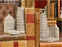 Tower Of Pisa Bookends