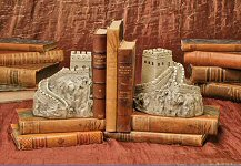 Historical Wonders Bookends Great Wall Of China